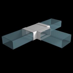 Тройник плоский Т-образный ПВХ 110х55мм ЭРА 511ТПП