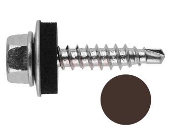 Саморез кровельный 4,8х35мм RAL8017 темно-коричневый