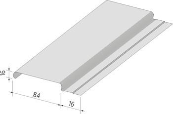 Реечный потолок Албес белый матовый 150мм 4м