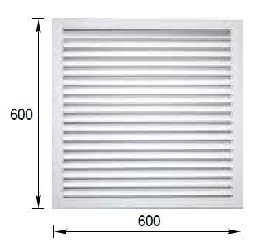 Решетка радиаторная ПВХ 600х600мм белая ERA П6060Р