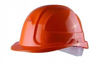 Каска строительная оранжевая для рабочих