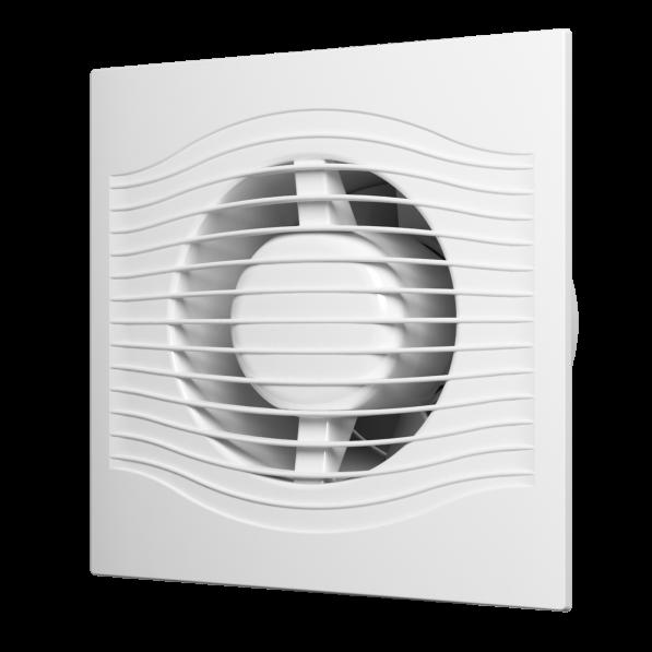 Вентилятор осевой вытяжной с контроллером Fusion Logic 1,0, обратным клапаном,тяг.выкл D150 SLIM 6C