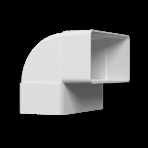 Колено плоское вертикальное 90° ПВХ 55х110мм ЭРА 511КВП