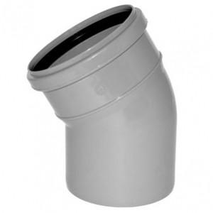 Отвод ПВХ канализационный D50мм 30 градусов